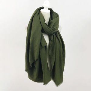 Zara Olive Green Large Blanket Scarf